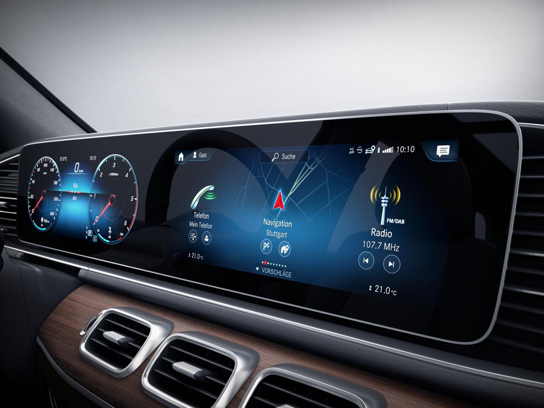 Intérieur et extérieur de la Mercedes-Benz GLE