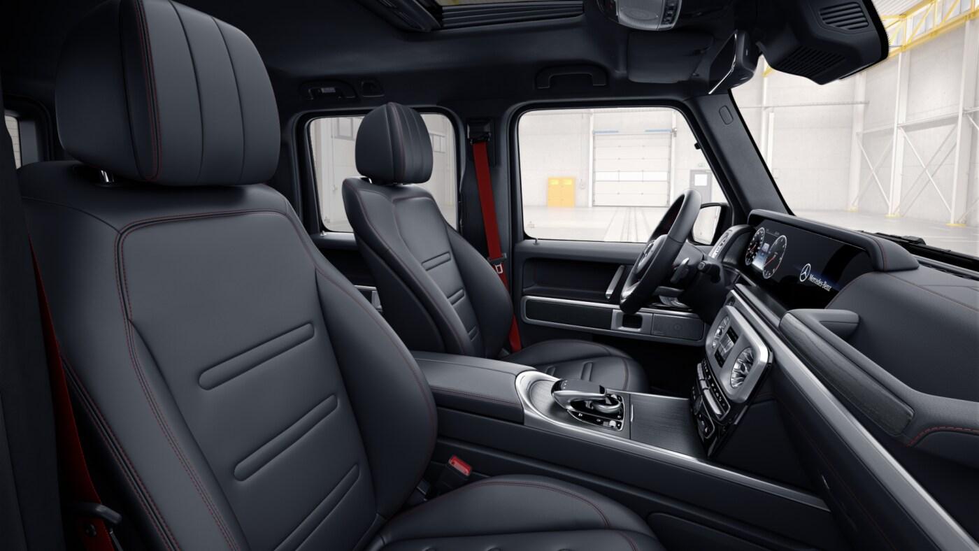 Sellerie de la Mercedes  classe G - Finition AMG Line avec une couleur noir