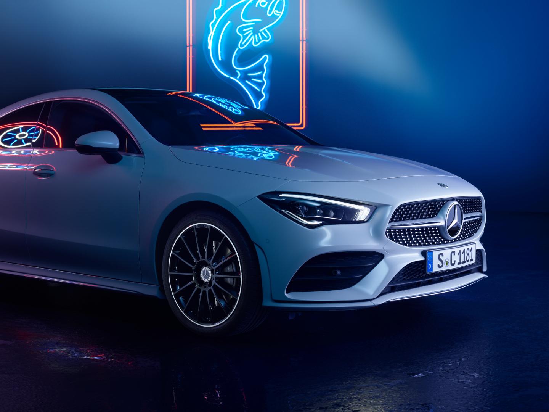 Intérieur et extérieur de la Mercedes CLA