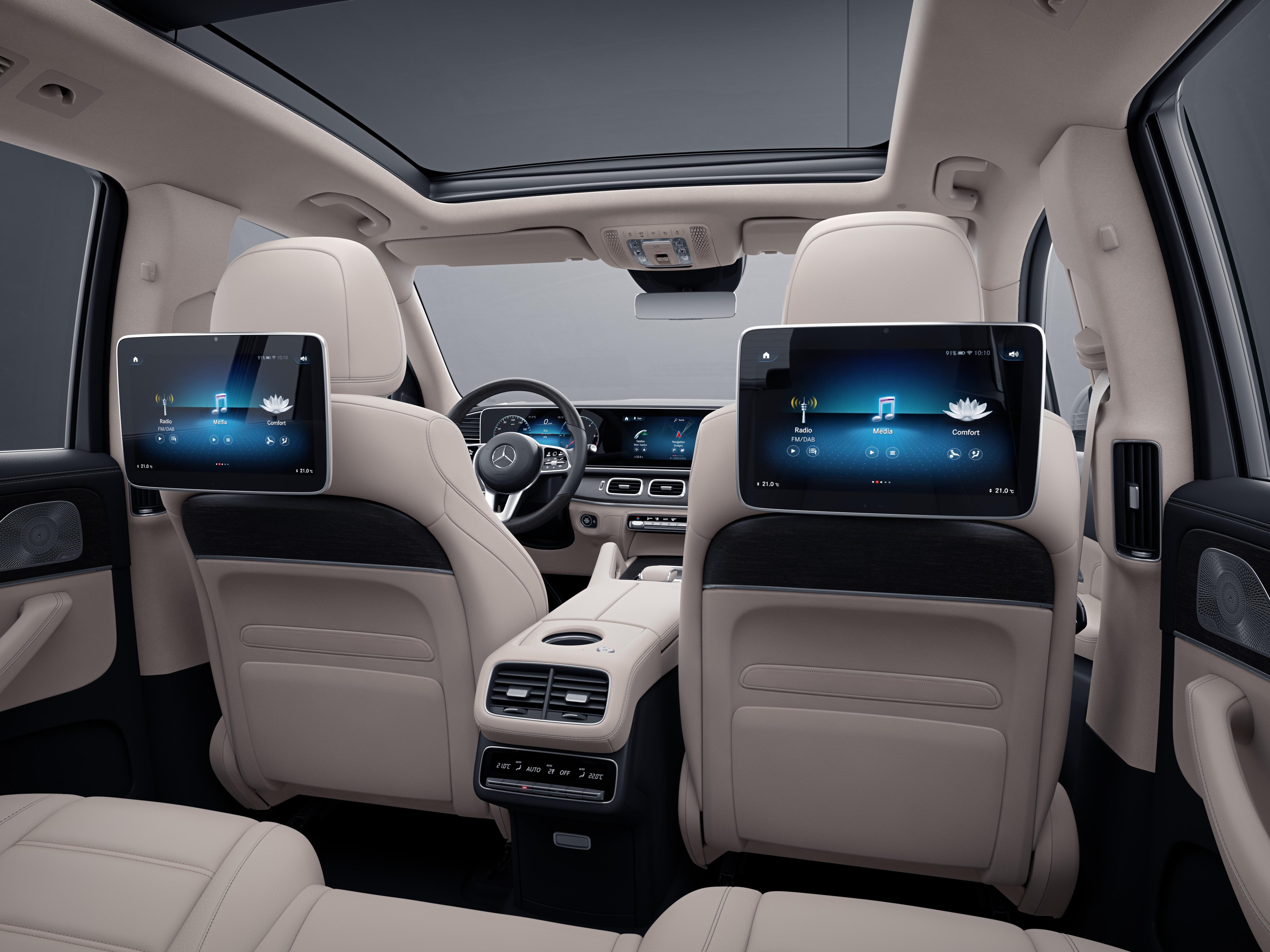 Système de divertissement arrière MBUX de la Mercedes GLS, Finition AMG Line