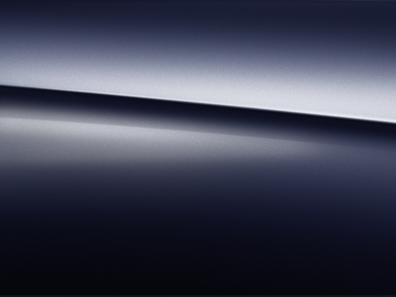 Vue de trois quarts de profil de la Mercedes-Benz GLS avec la peinture Métallisé - Bleu Cavansite