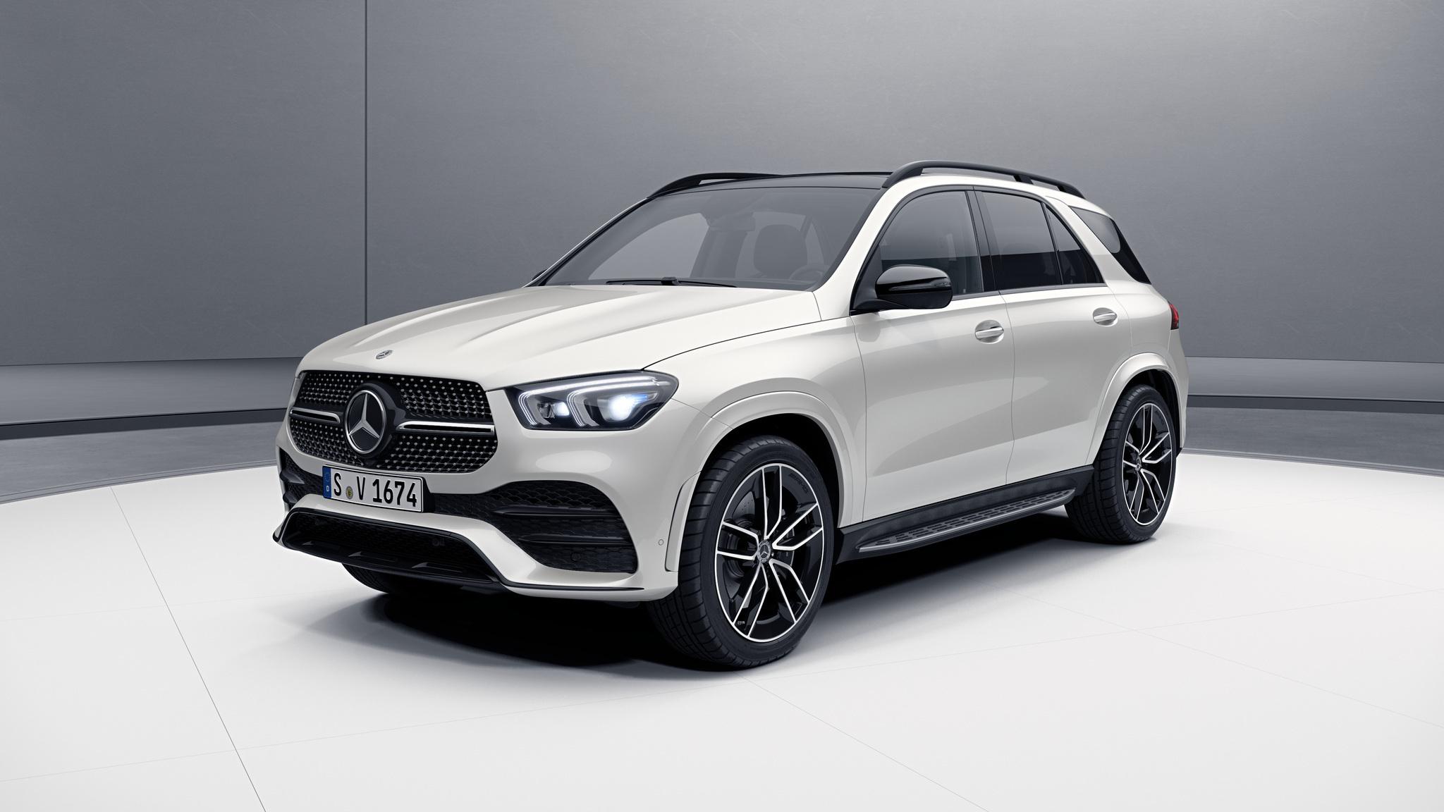 Extérieur de la Mercedes GLE - Peinture designo - blanc diamant bright