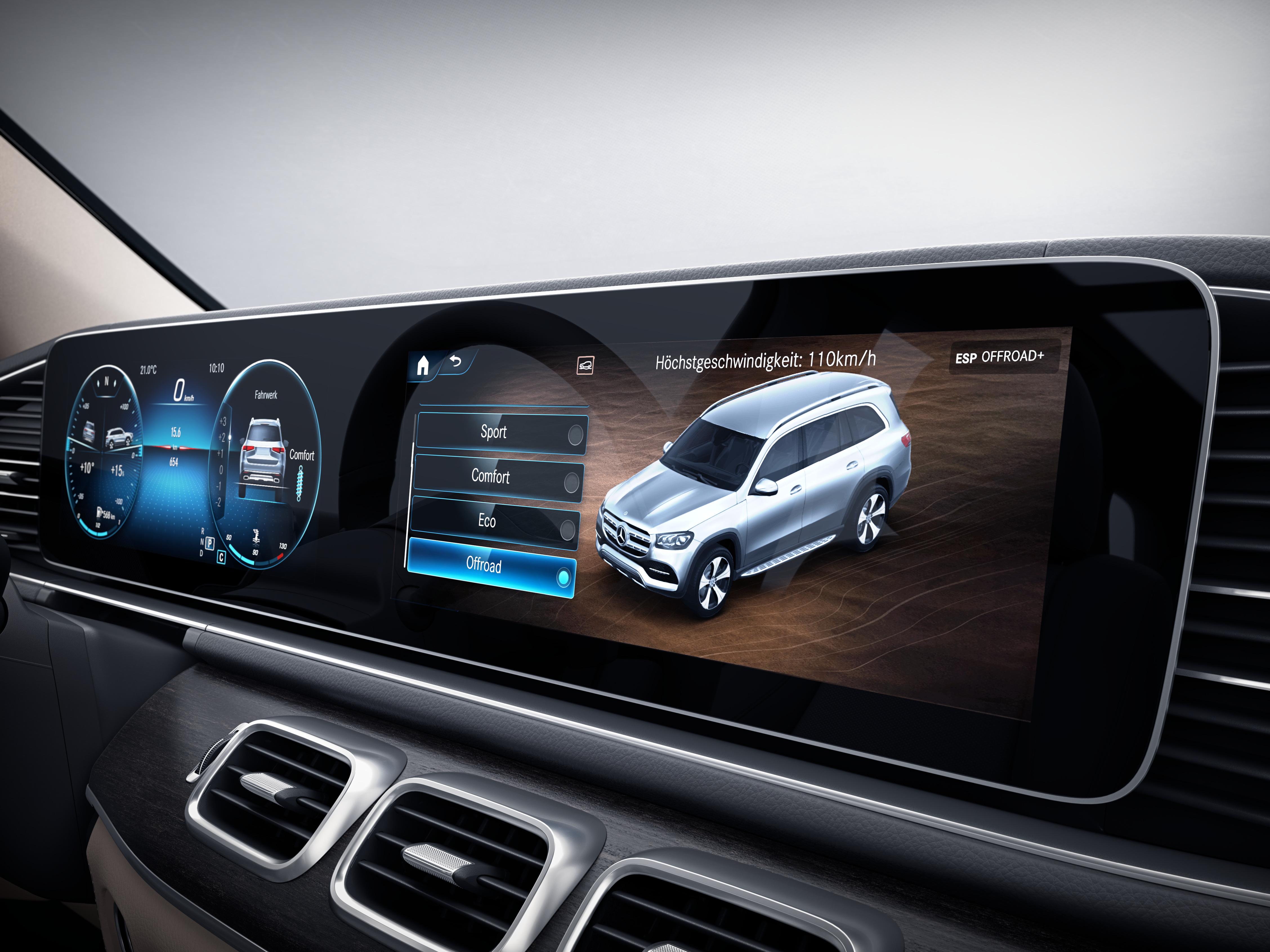 Écran tactile de la Mercedes GLS - Finition AMG Line