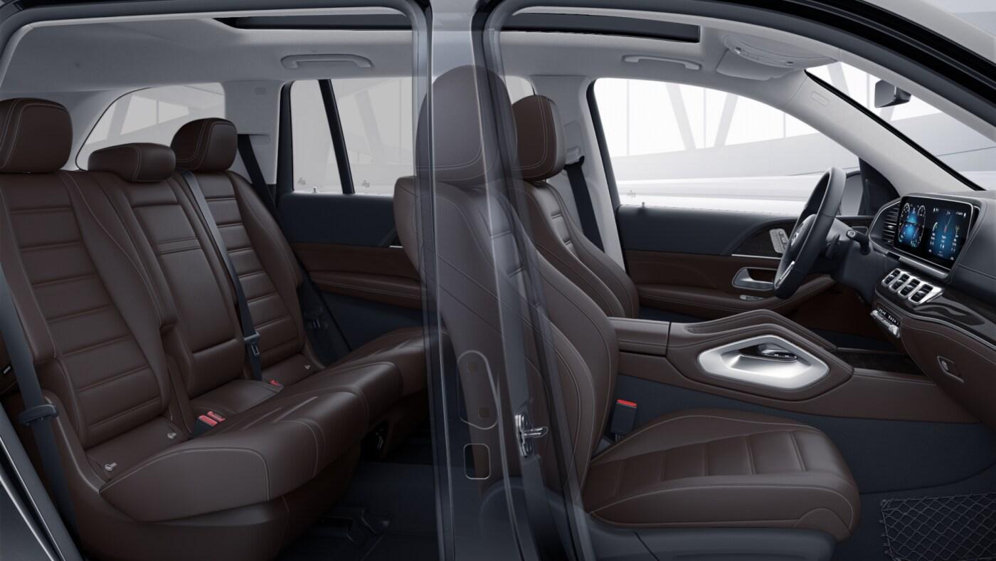 Sellerie de la Mercedes GLS - Finition Luxury avec une couleur noir