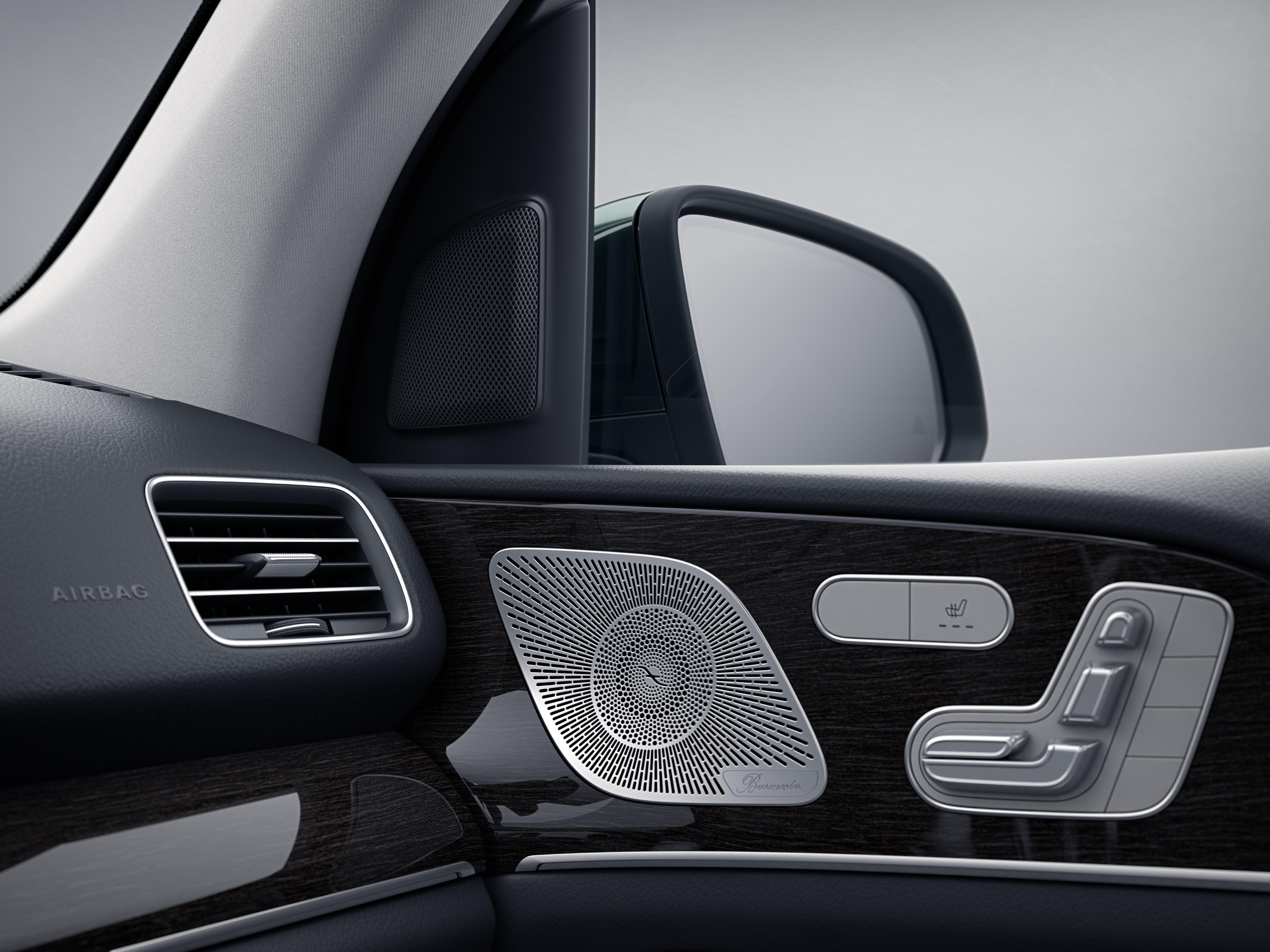 Tableau de bord de la Mercedes GLS, Finition AMG Line