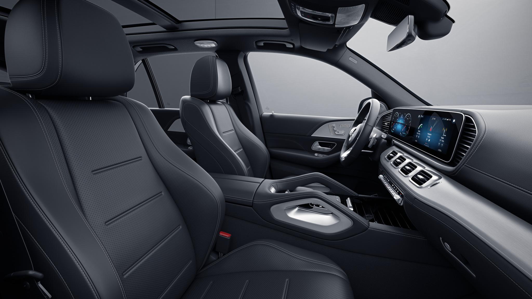 Habitacle de la Mercedes GLE -  Sellerie  Cuir Nappa cuir noir