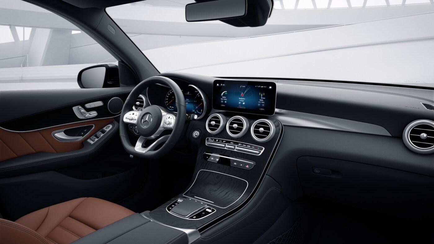 Intérieur de la Mercedes GLC Finition 4 Matic AMG Line Plus