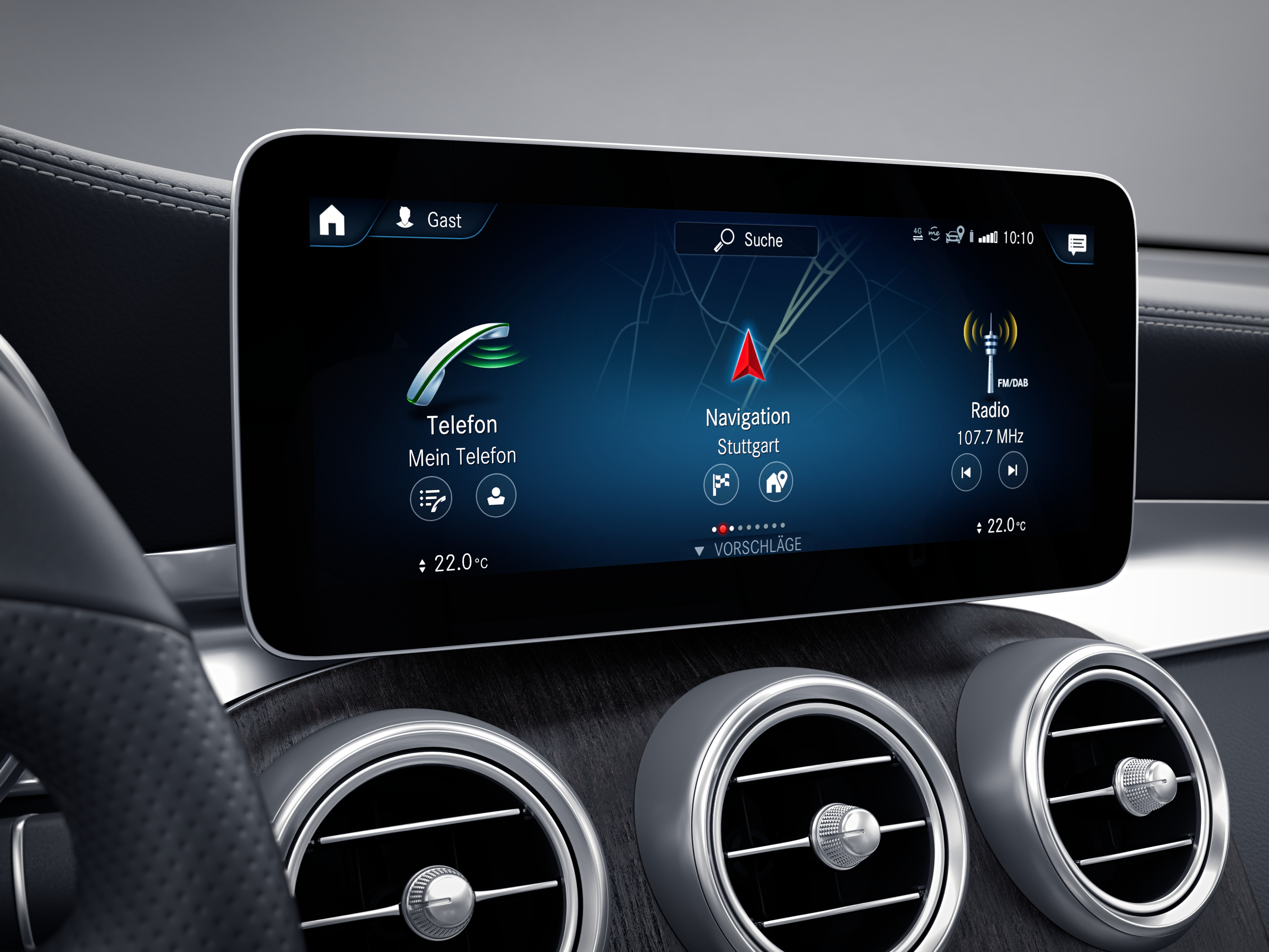 Ecran tactile de la Mercedes GLC 4 Matic AMG Line
