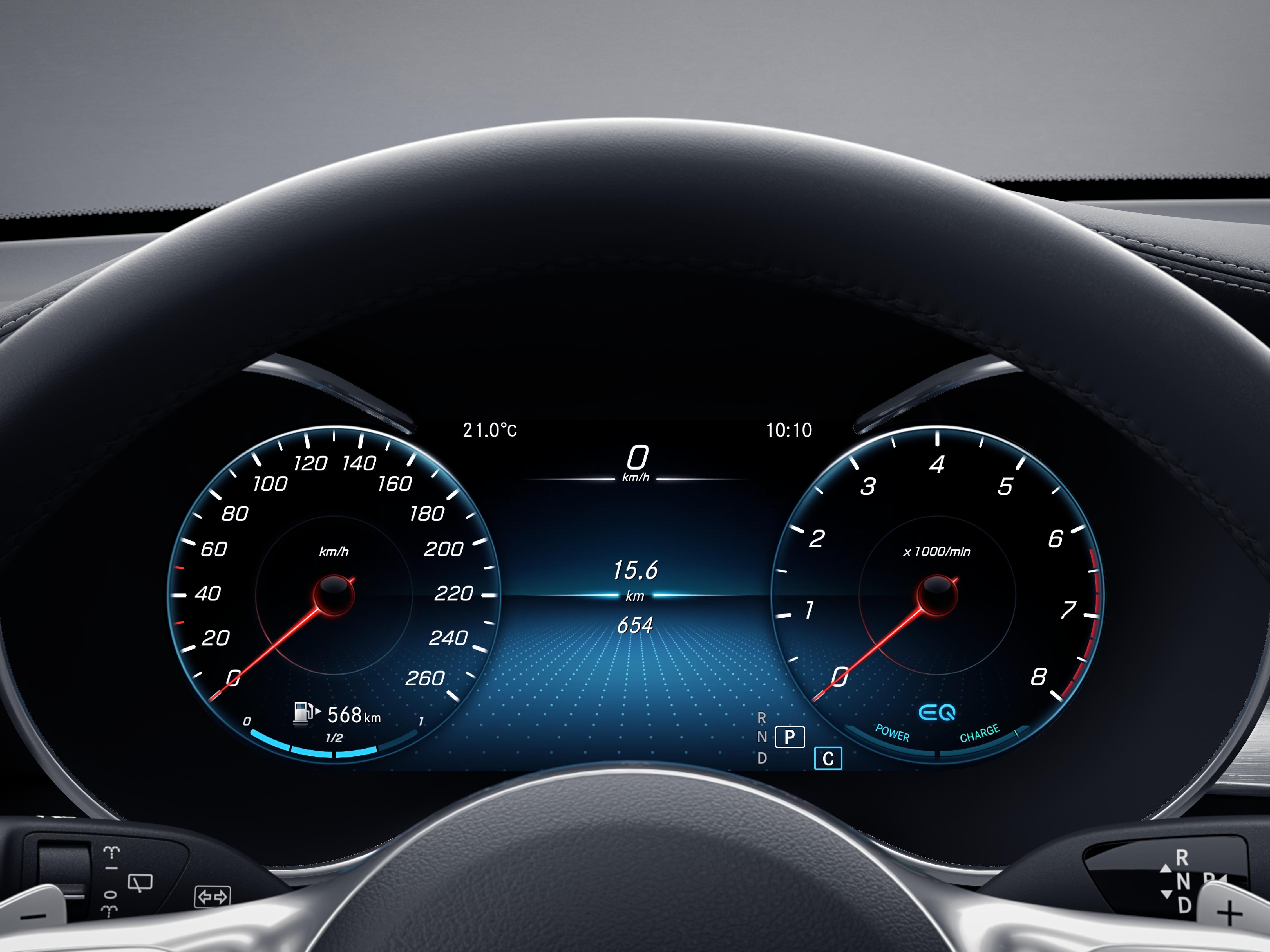 Tableau de bord de la Mercedes GLC Finition 4 Matic AMG Line Plus