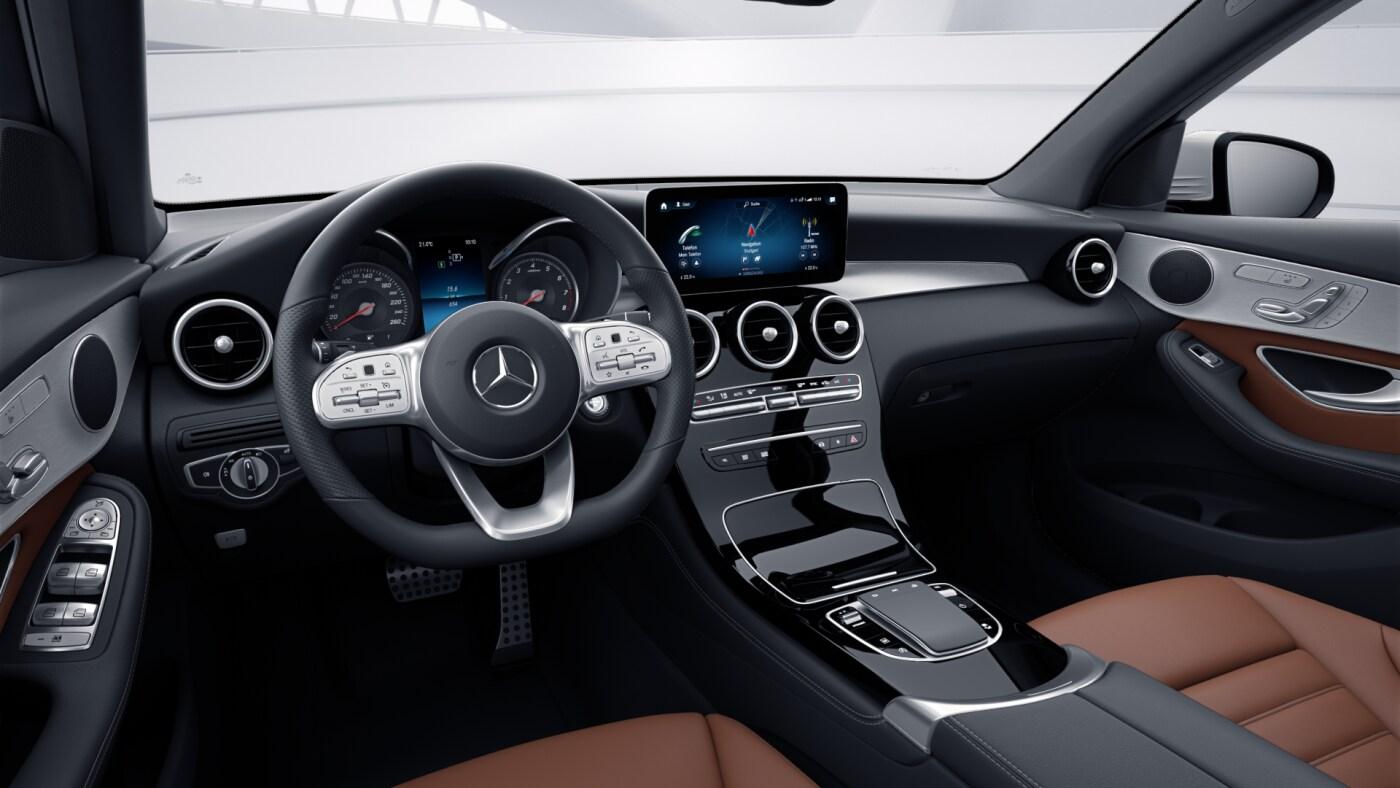 intérieur de la Mercedes GLC 4 Matic AMG Line