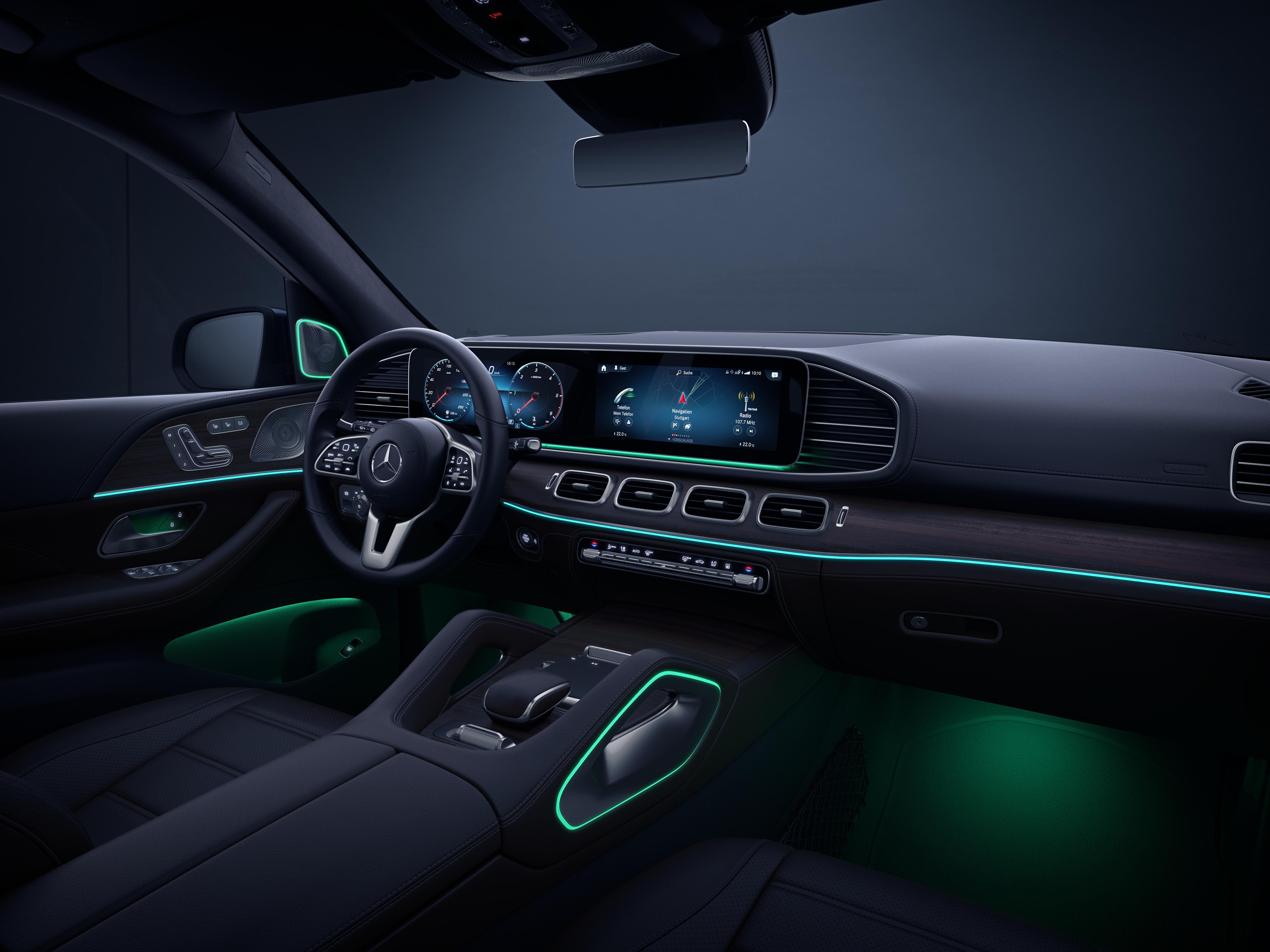 Éclairage d'ambiance Vert de la Mercedes-Benz GLE Finition Avantgarde