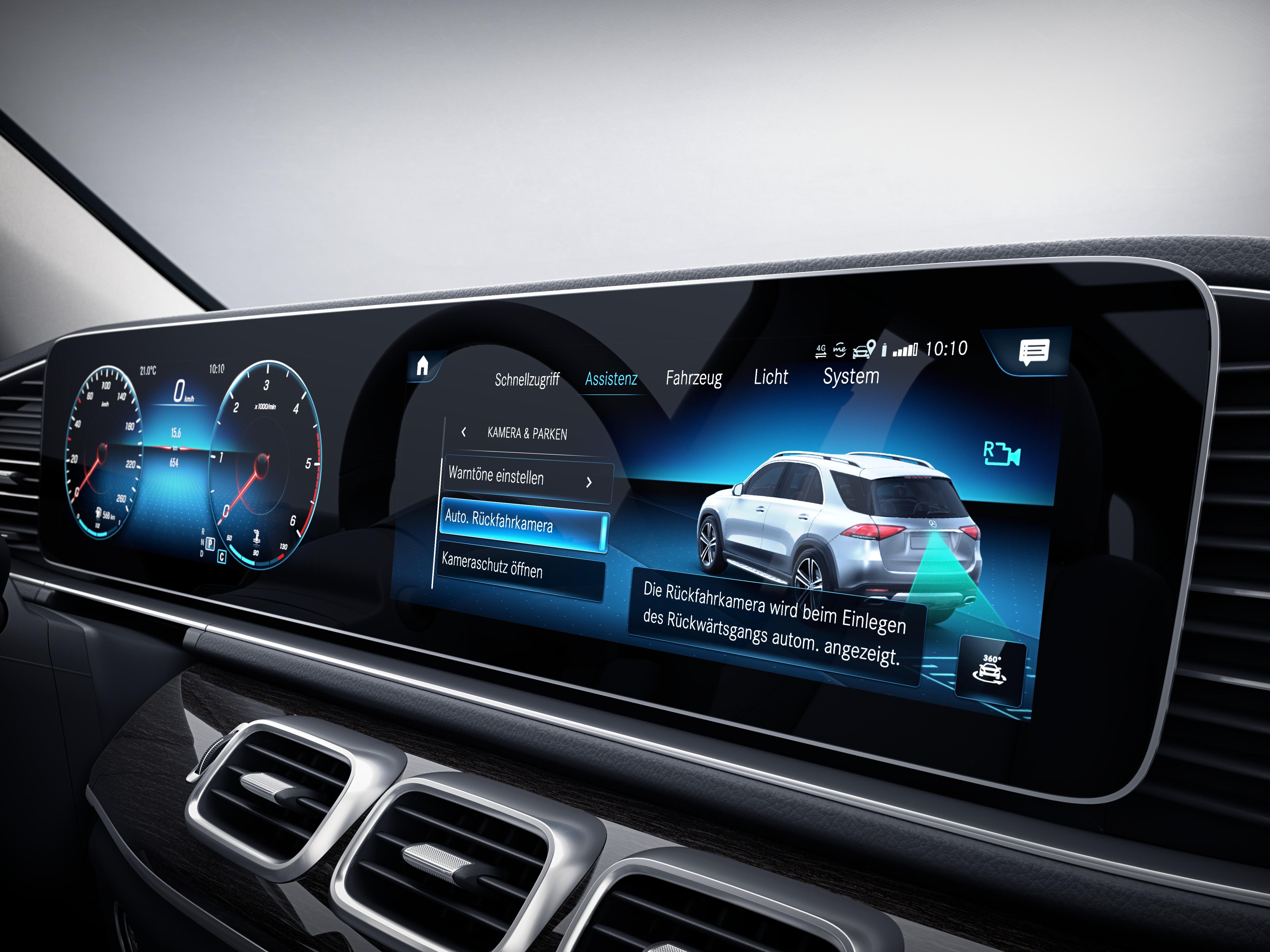 Écran tactile de la Mercedes-Benz GLE Finition Avantgarde