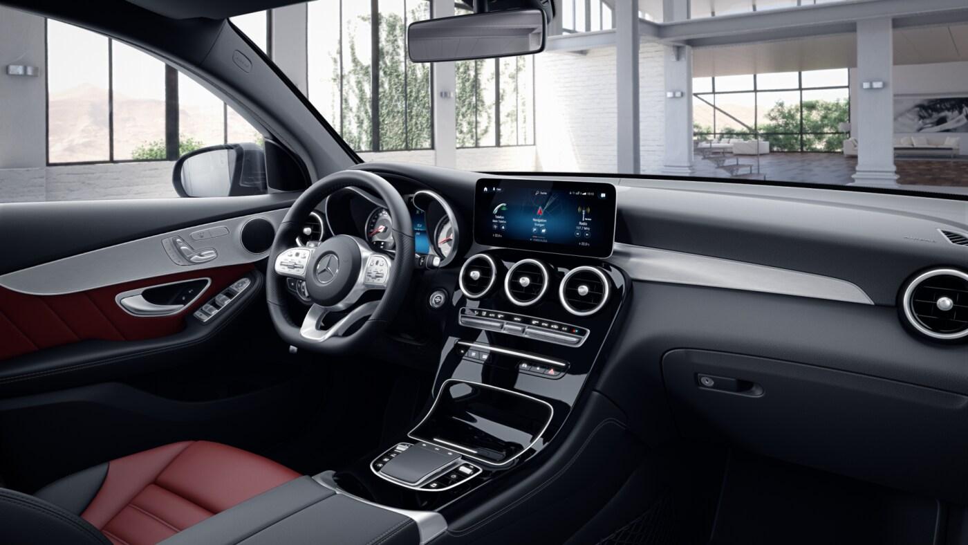 Intérieur de la Mercedes GLC Coupé - Finition AMG Line