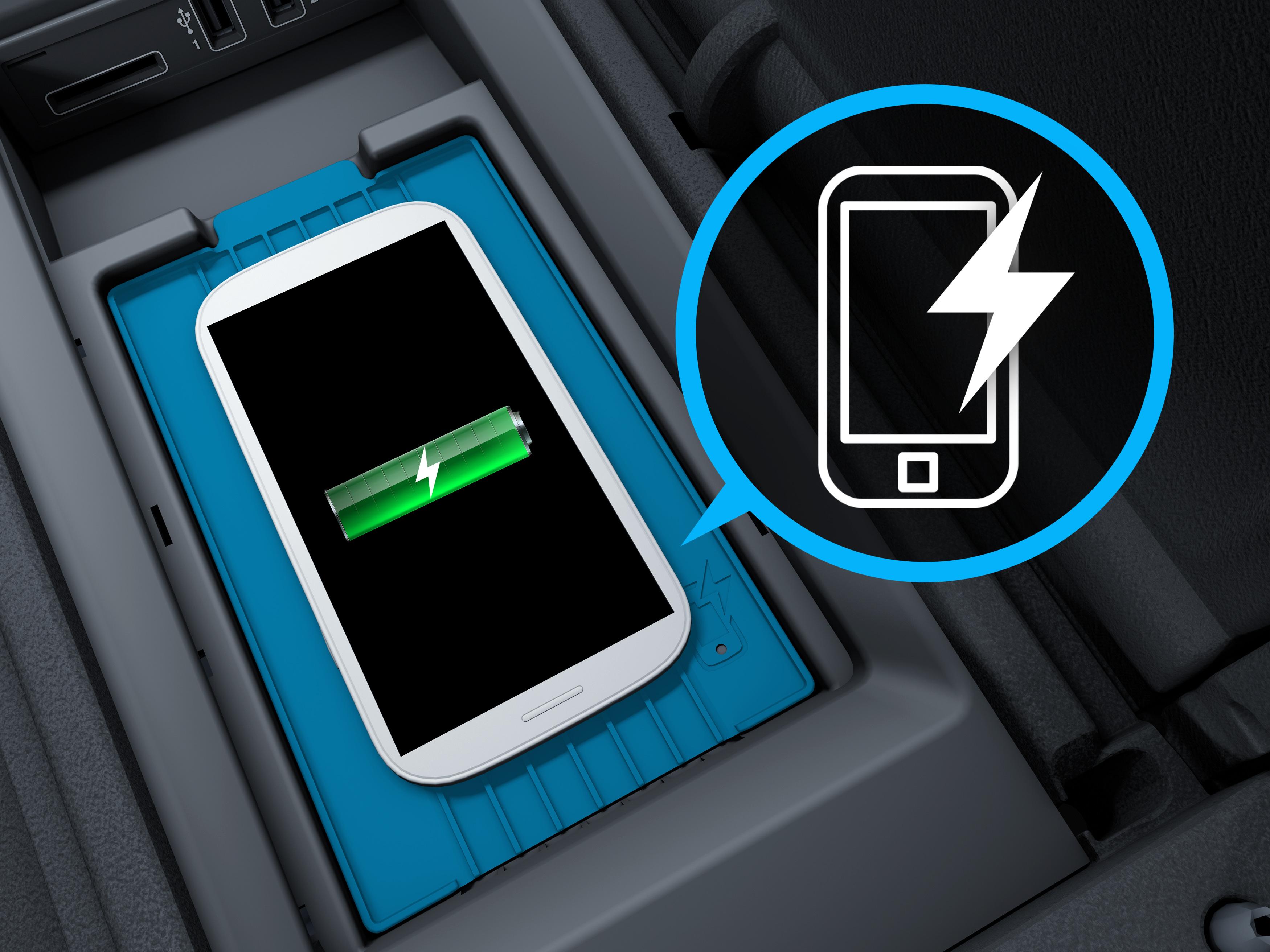 Chargement sans fil du téléphone dans la Mercedes-Benz GLE Luxury