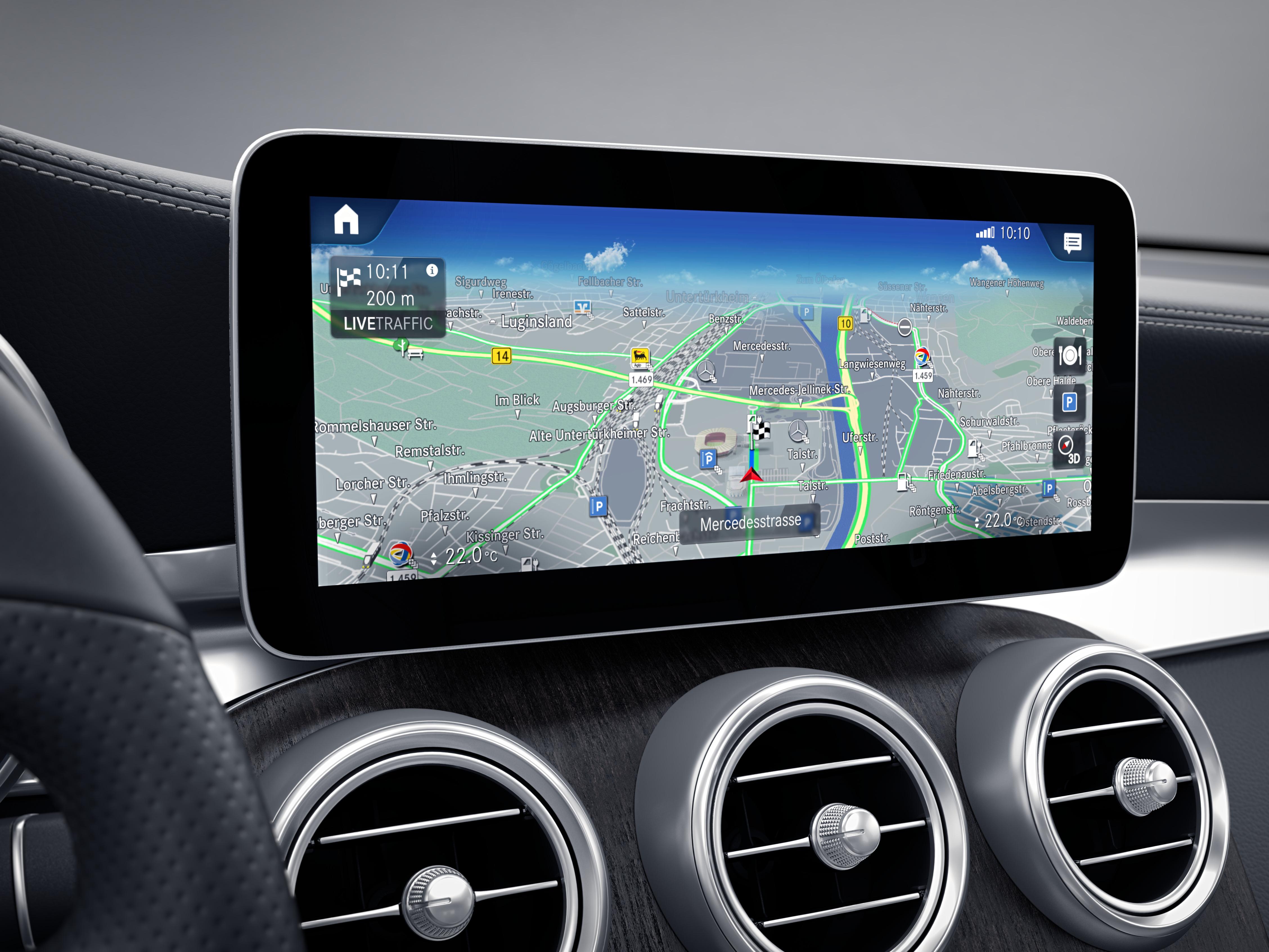 Écran tactile de la Mercedes GLC Coupé - Finition Avantgarde