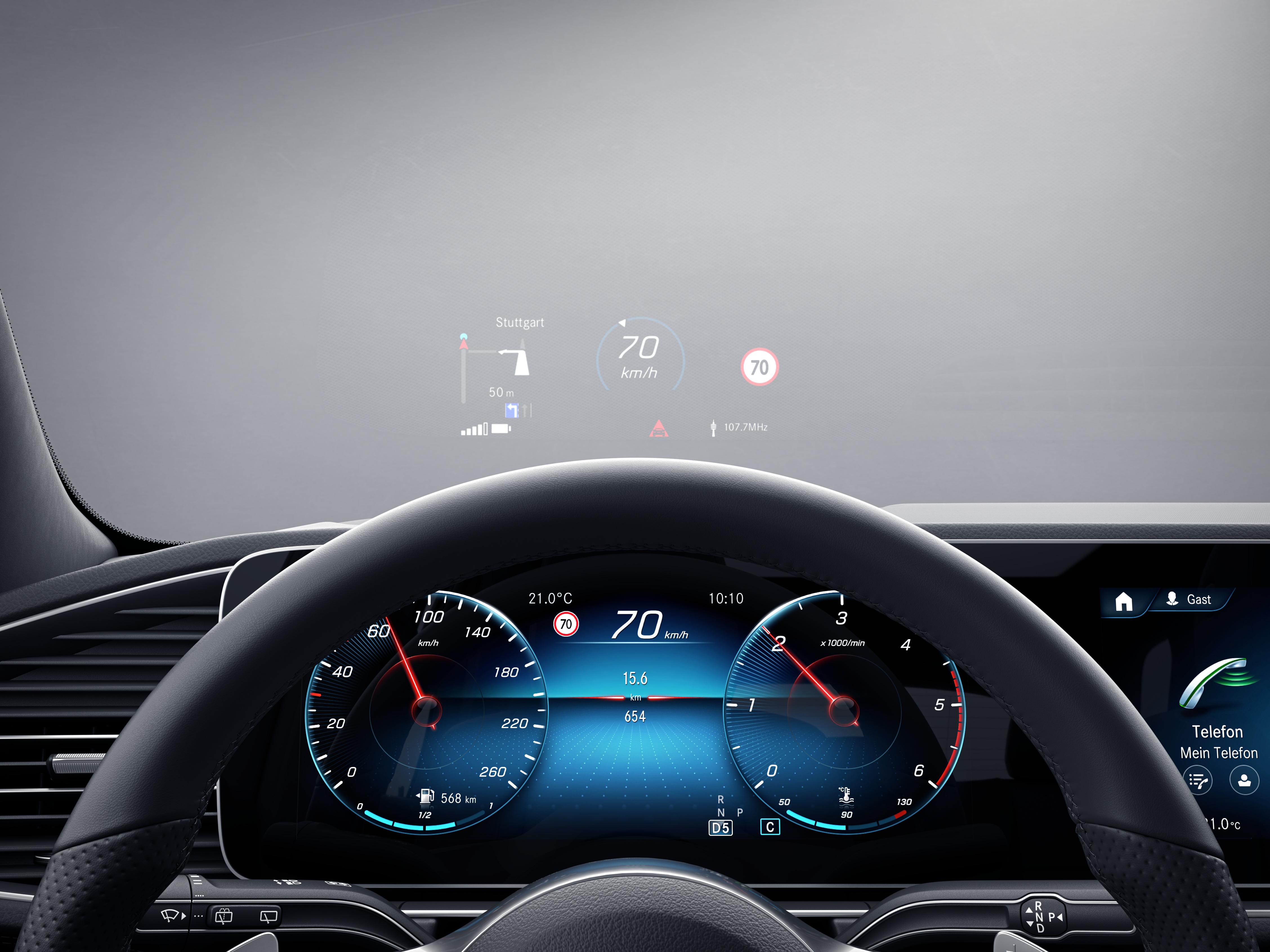 Tableau de bord de la Mercedes-Benz GLE AMG Line plus