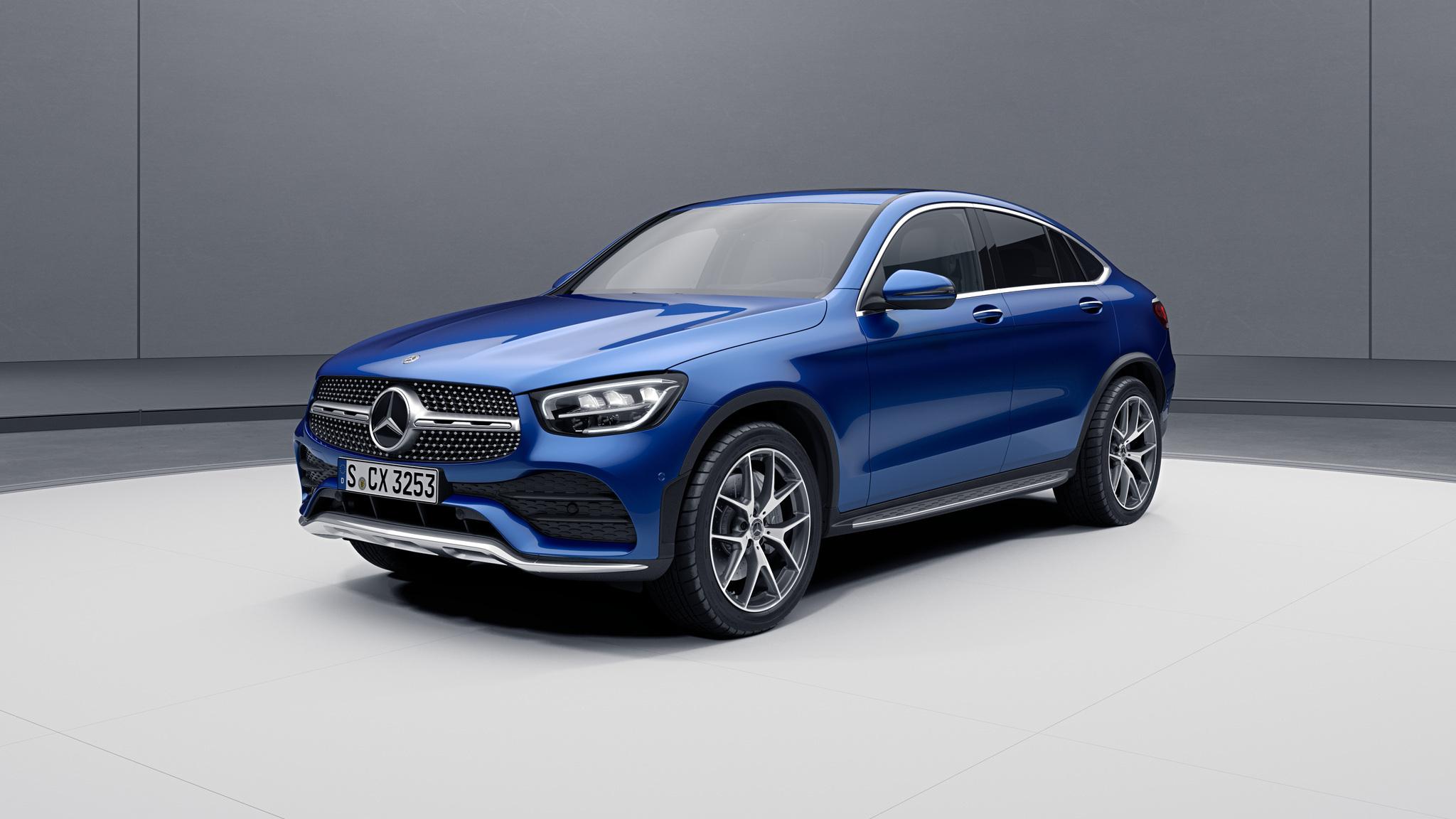 Extérieur de la Mercedes GLC Coupé - Peinture métallisée bleu brillant