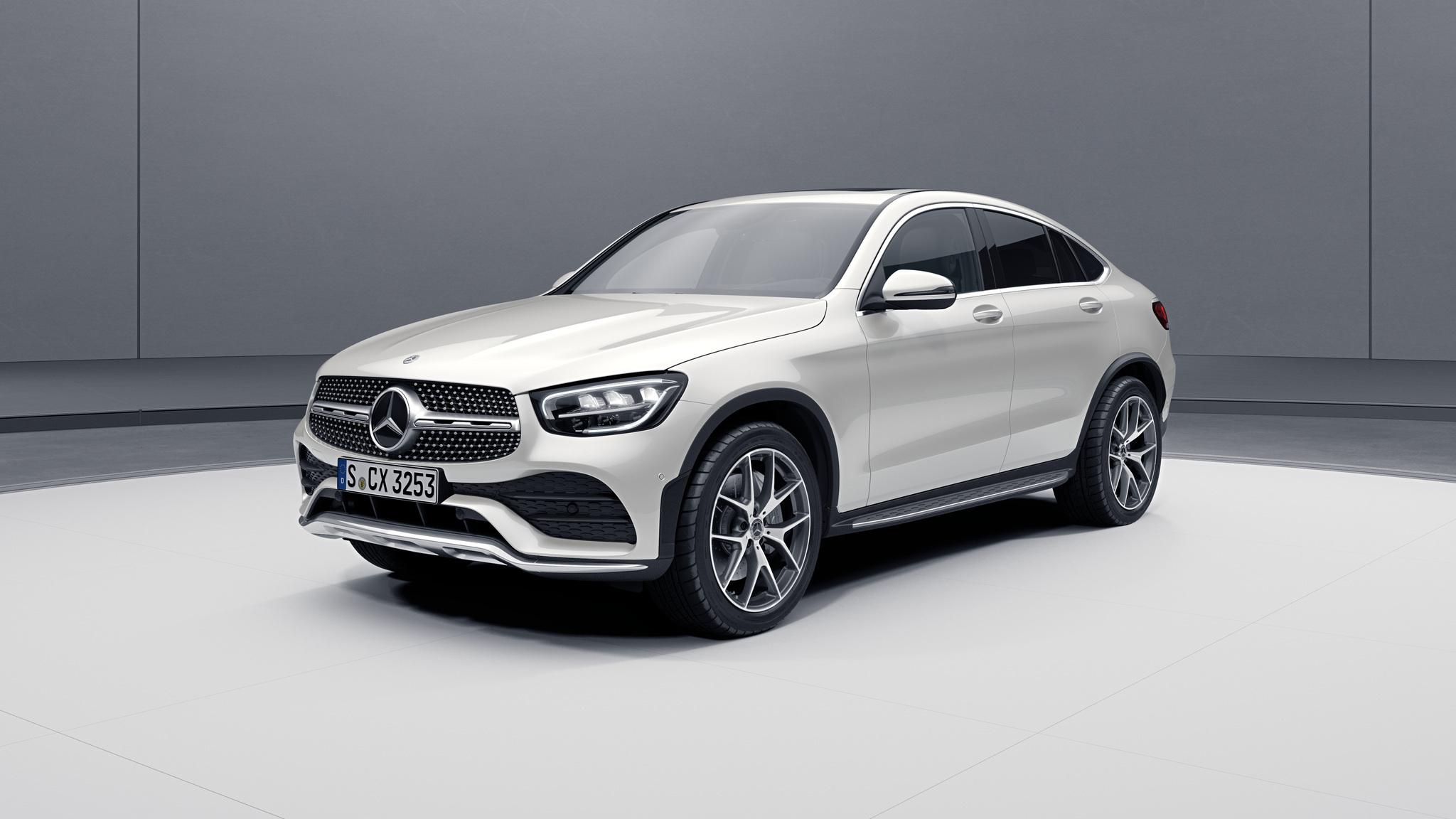 Extérieur de la Mercedes GLC Coupé - Peinture designo - blanc diamant bright
