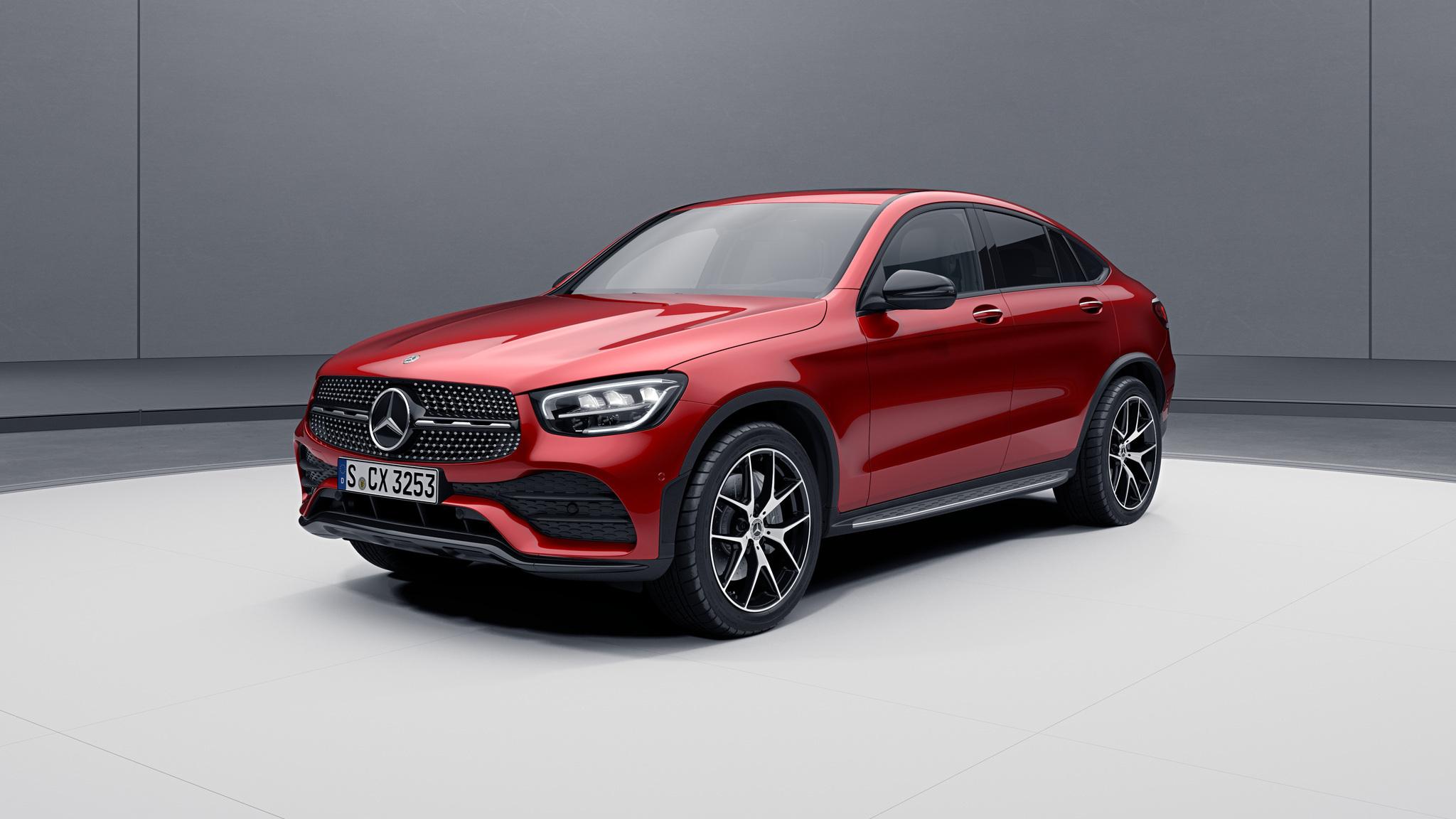 Extérieur de la Mercedes GLC Coupé - Peinture designo - rouge jacinthe métallisé