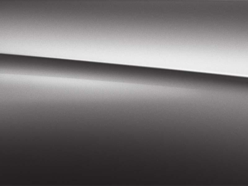Vue de trois quarts de profil de la Mercedes Classe A avec la peinture Métallisé - Gris Montagne