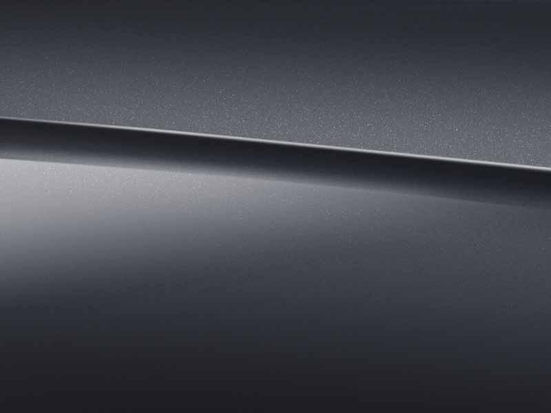 Vue de trois quarts de profil de la Mercedes Classe C Berline avec la peinture Métallisé - gris graphite