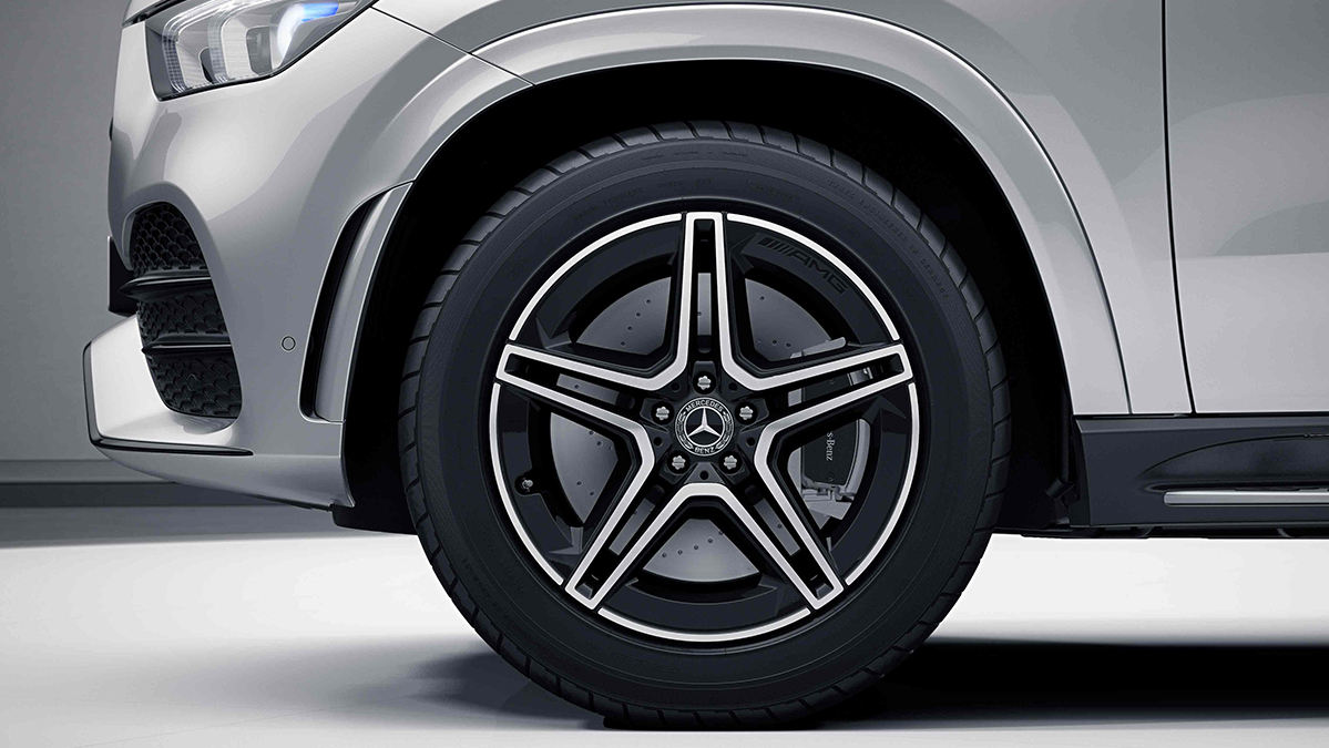 Jantes alliage AMG 20'' à 5 doubles branches noires de la Mercedes GLE Coupé