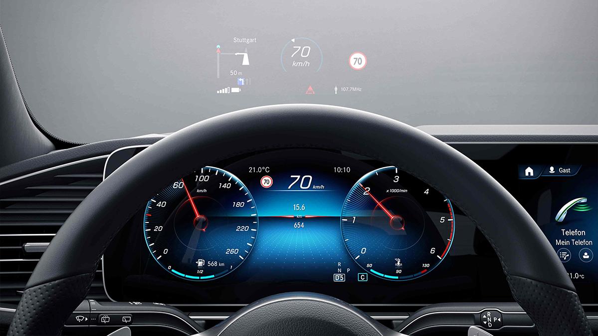Tableau de bord de la Mercedes GLE Coupé - Finition AMG Line Plus