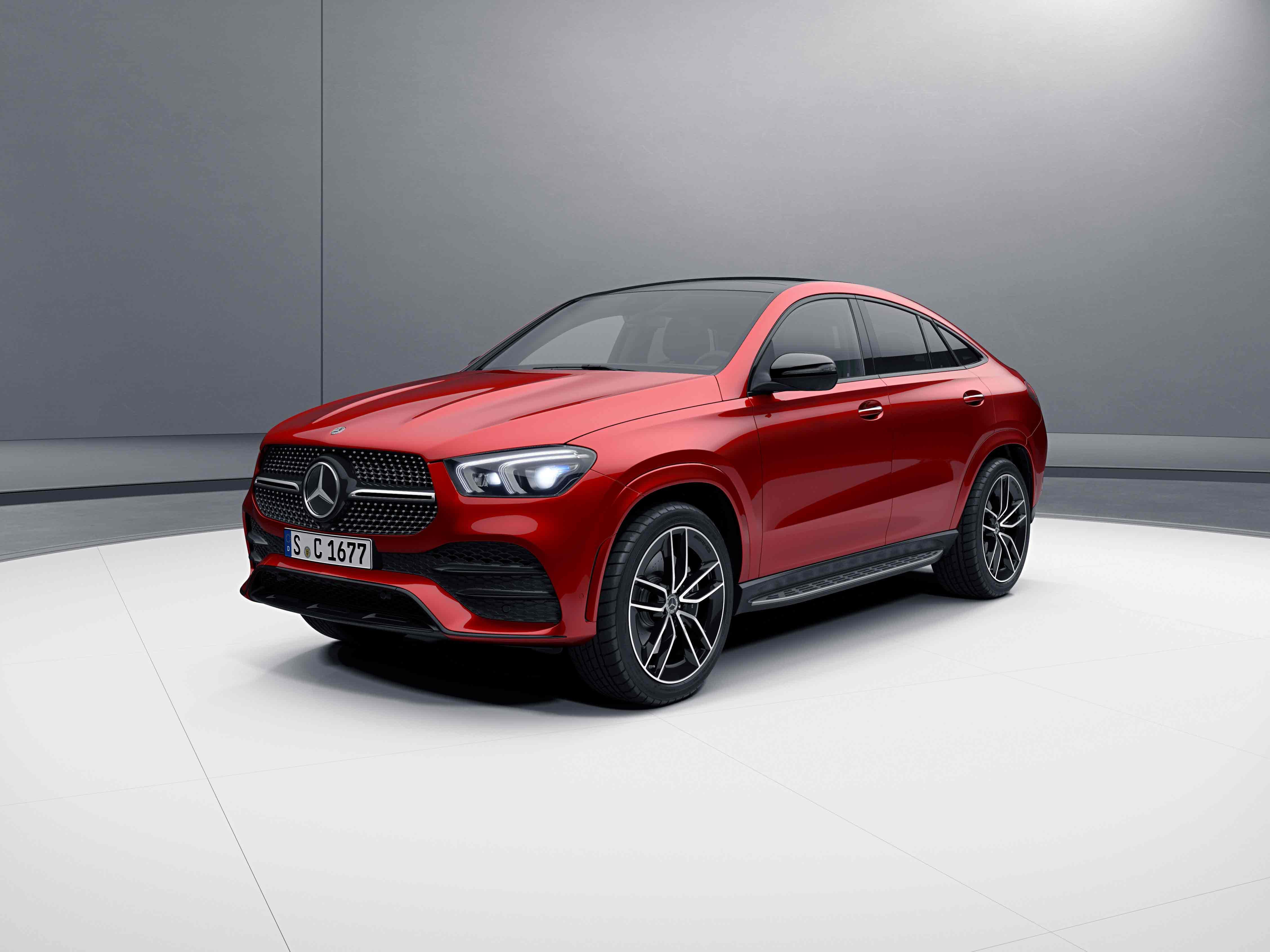 Extérieur de la Mercedes GLE Coupé - Peinture designo rouge jacinthe métallisé designo