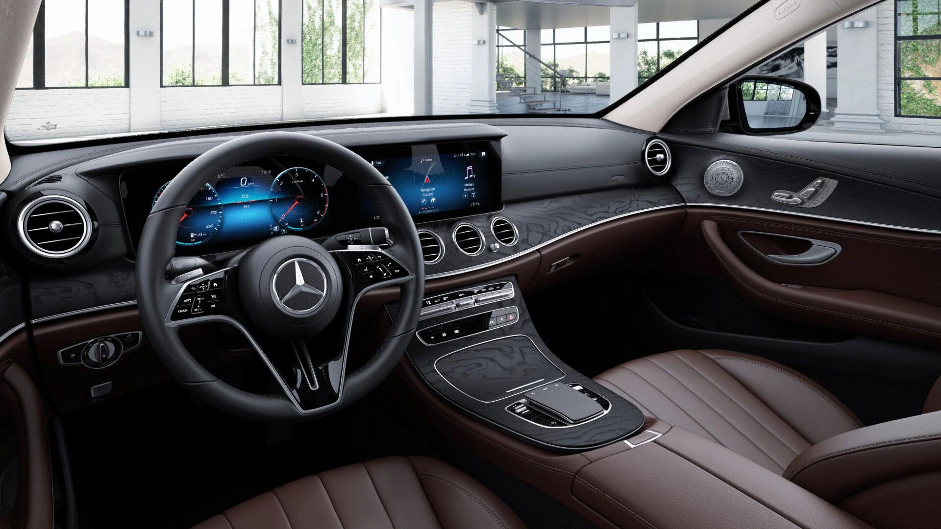 Ecran tactile de la Mercedes Classe E Finition Luxury