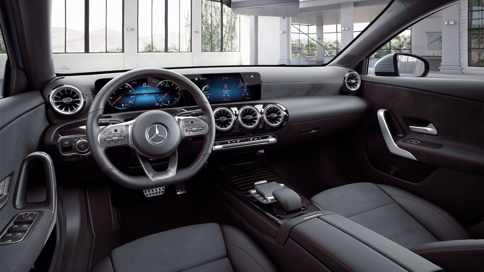 Tableau de bord de la Mercedes Classe A Finition AMG Line