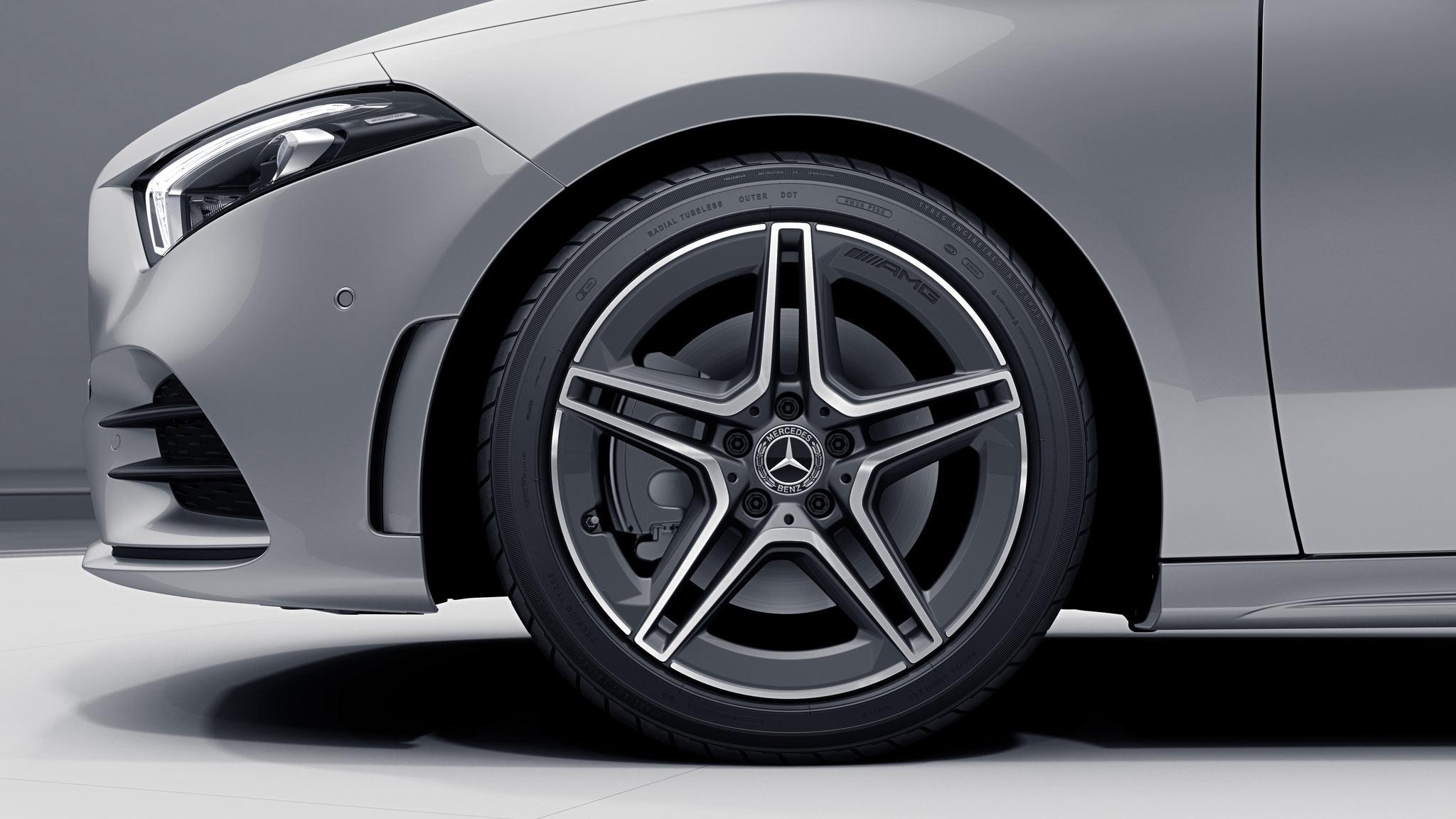 Jantes de la Mercedes Classe A - Finition AMG Line