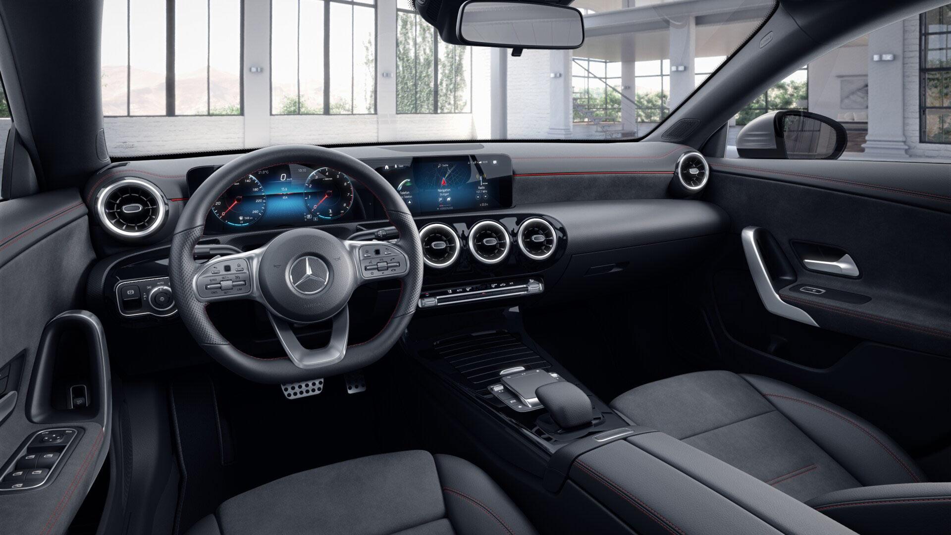 Sellerie Noir de la Mercedes CLA Finition AMG  Line