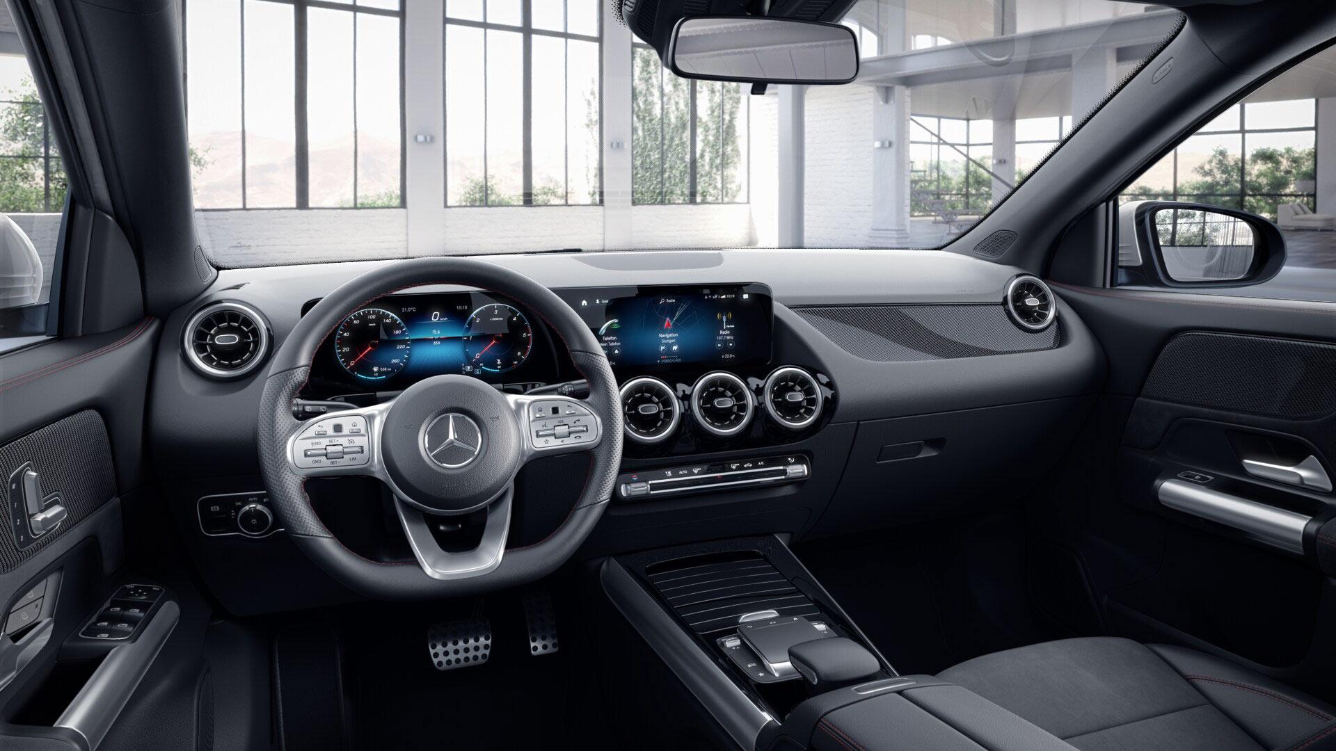 Intérieur de la Mercedes GLA Finition AMG Line