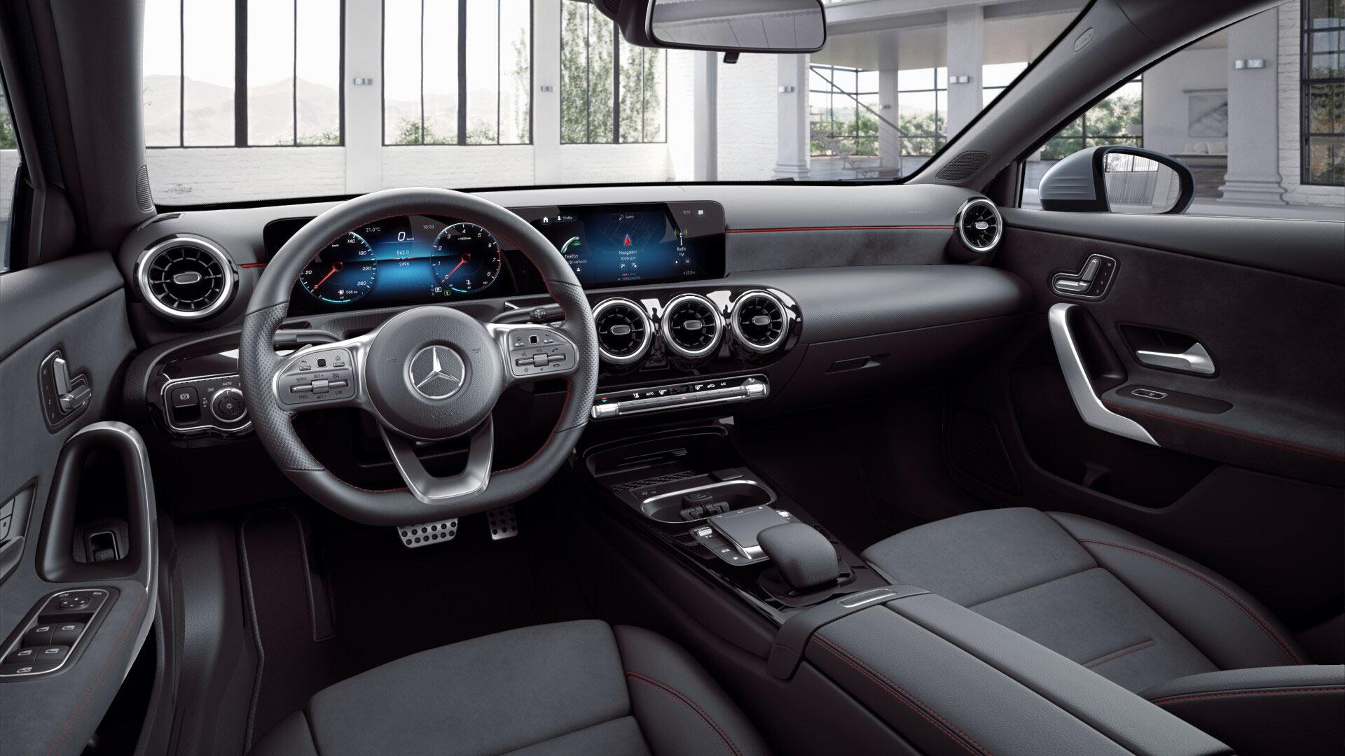 Intérieur de la Mercedes-Benz classe A berline Finition AMG Line