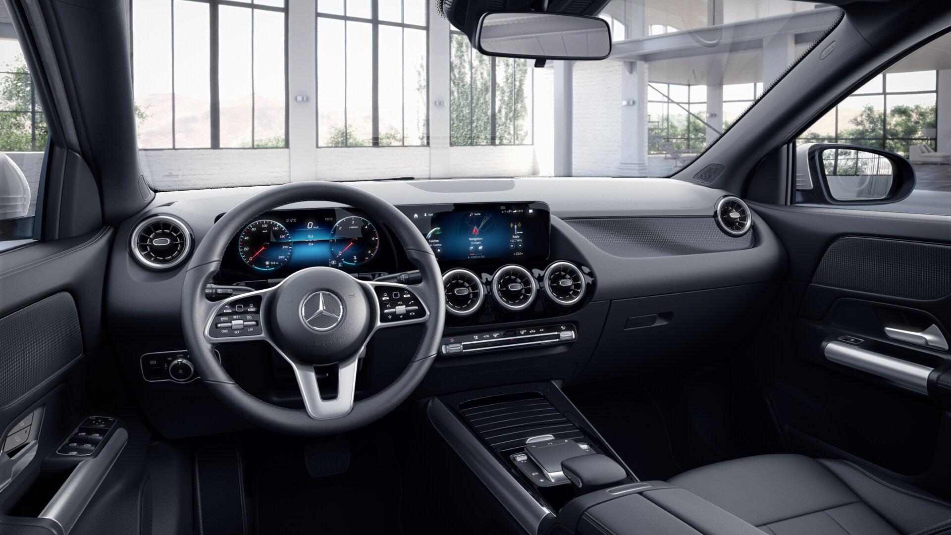 Intérieur de la Mercedes GLA Finition Style