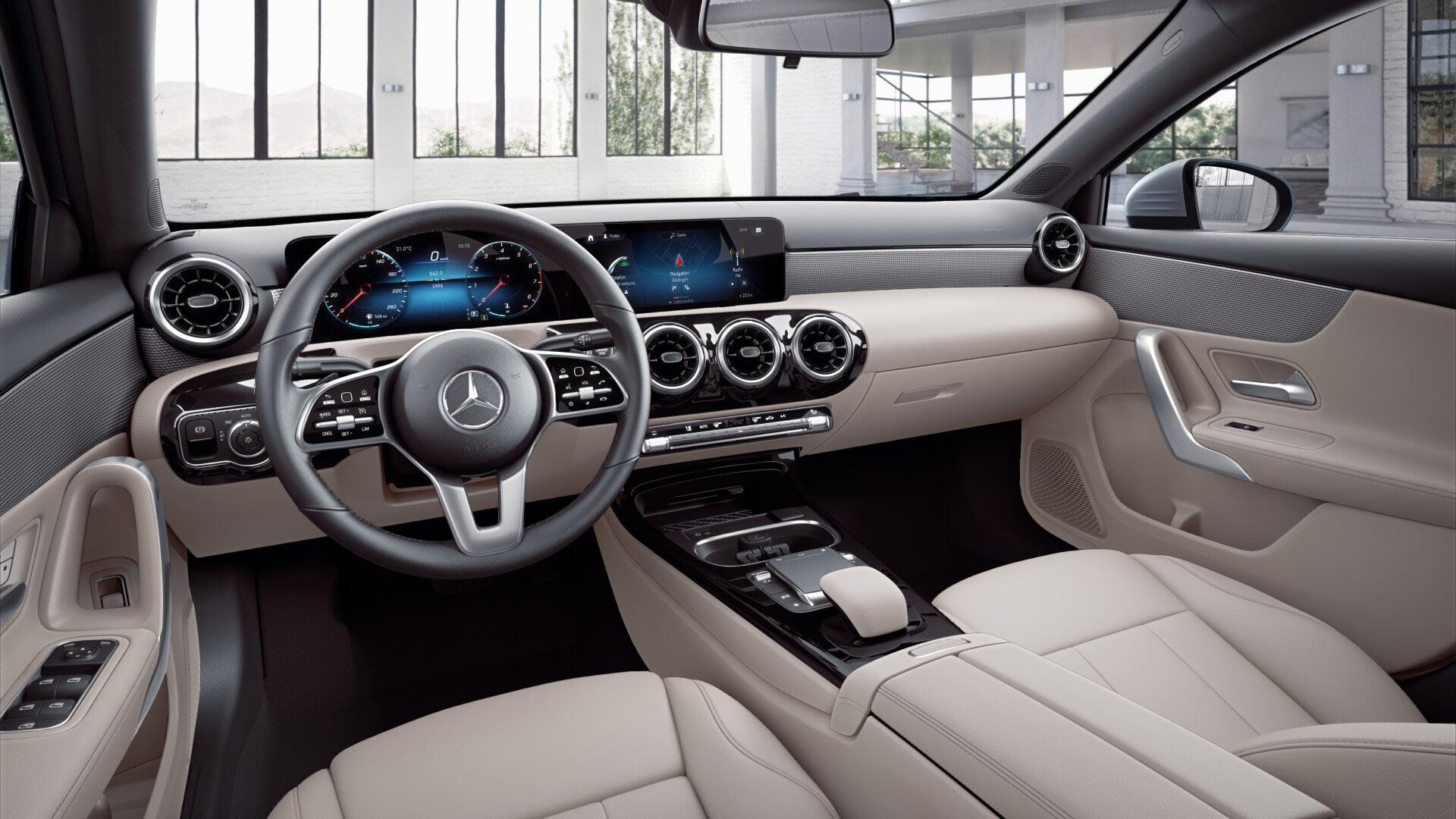 Intérieur de la Mercedes Classe A berline Finition Style