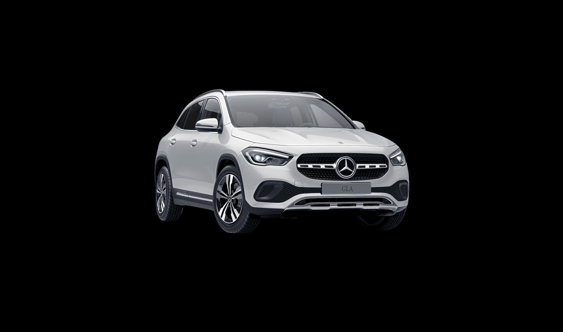 Mercedes Benz GLA noir Finition Style : Vue de trois quarts de profil à l'arrêt